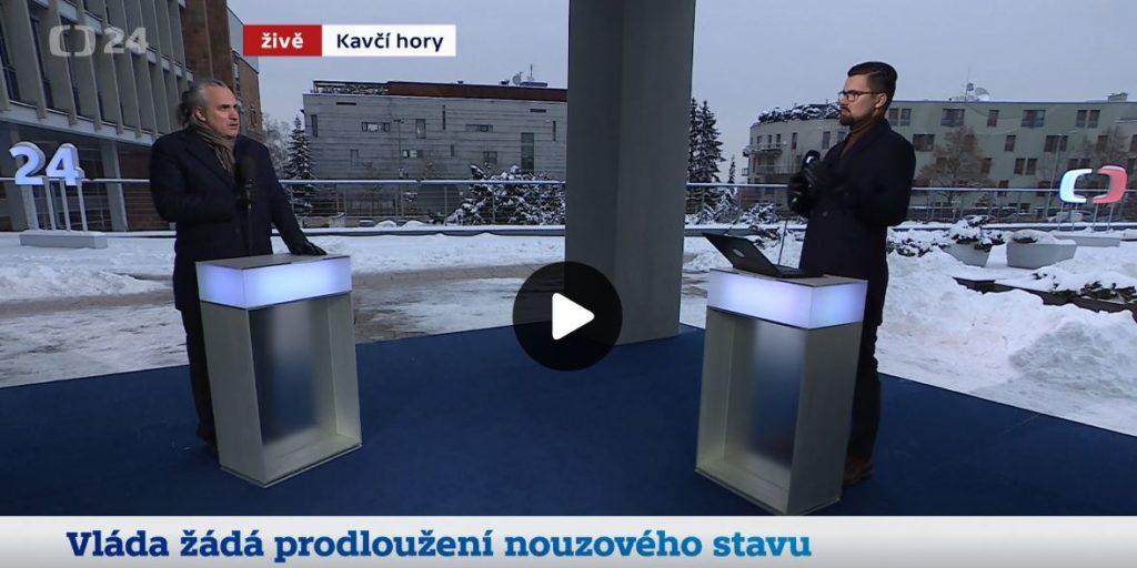 Studio ČT24, Vláda žádá prodloužení nouzového stavu