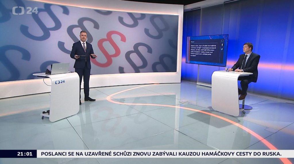 90' ČT24, Vicepremiérova žaloba kvůli cestě do Moskvy
